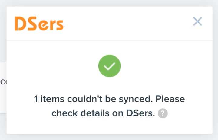 Migrate data from ShopMaster with Woo DSers - Item couldn't be synced - Woo DSers