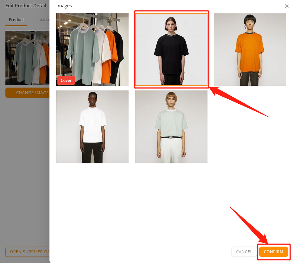 Edit a product on DSers with Wix DSers - select picture - Wix DSers
