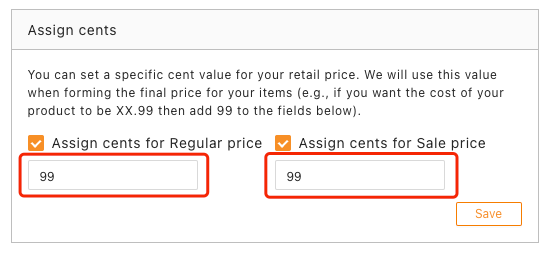 Pricing rules with Woo DSers - Set assign cents 99 - Woo DSers