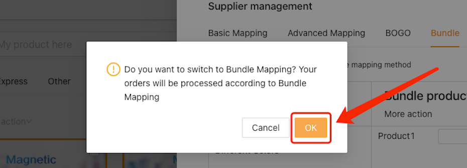 Create Bundles of products with Woo DSers - Confirm activating bundle - Woo DSers