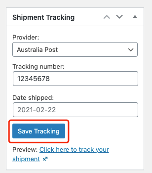 Send tracking number manually with Woo DSers - Save Tracking - Woo DSers