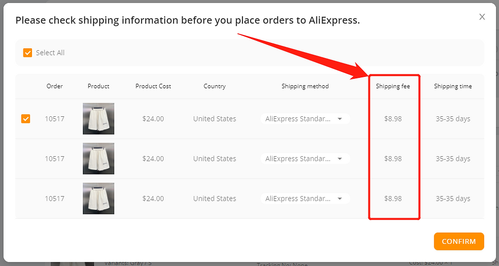 Shipping fees on DSers with Wix DSers - shipping cost - Wix DSers