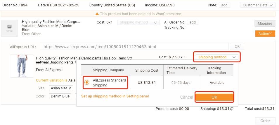 Refazer um pedido com produto excluído com Woo DSers - 5 - Woo DSers
