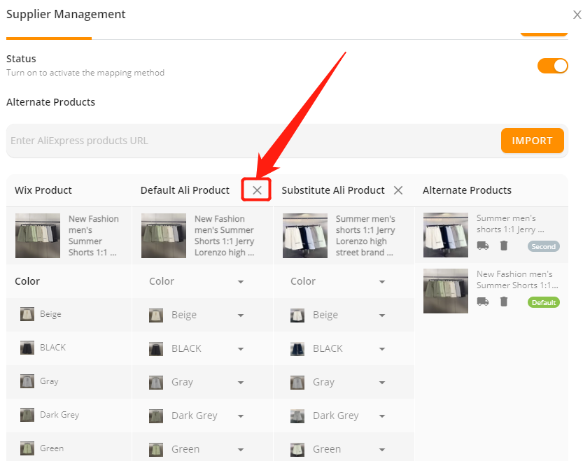 Change supplier of a product with Wix DSers - remove current supplier - Wix DSers