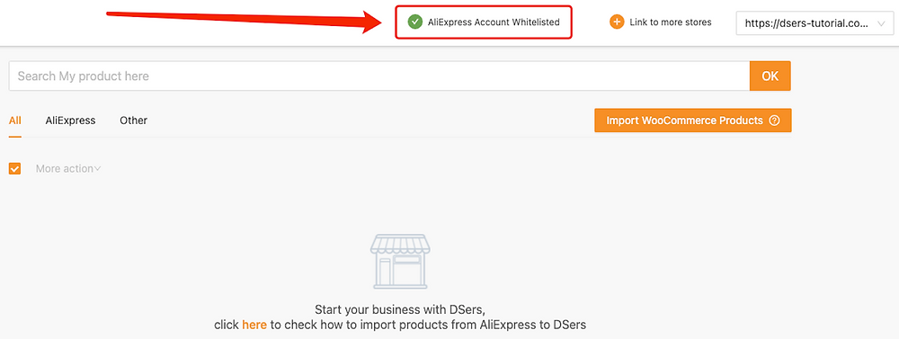 Link Woo DSers to AliExpress - AliExpress Account Whitelisted - Woo DSers