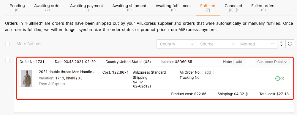 Fulfill orders manually on Woo DSers - Without any Ali Order Number - Woo DSers