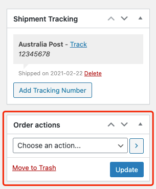 Send tracking number manually with Woo DSers - Find Order actions - Woo DSers