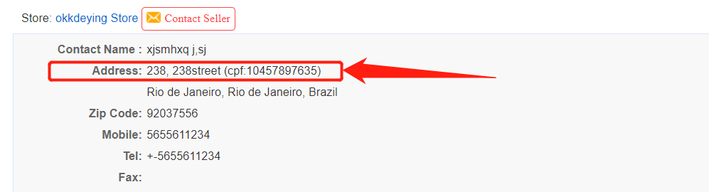 Orders to Brazil specifications with Wix DSers - address and cpf number - Wix DSers
