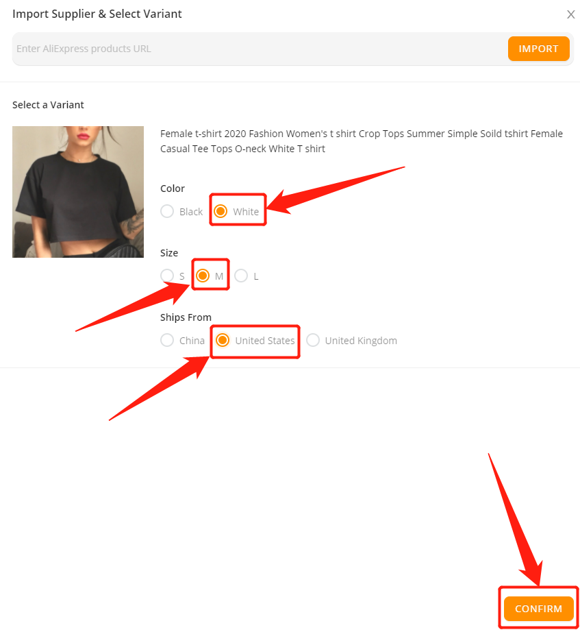 Advanced Mapping with Wix DSers - select a variant - Wix DSers