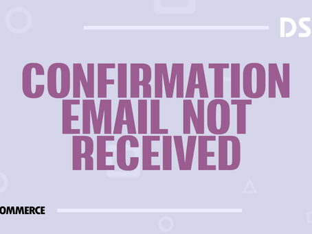 Confirmation email not received