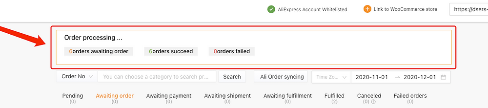 Place multiple orders from WooCommerce to AliExpress with Woo DSers - Order processing - Woo DSers