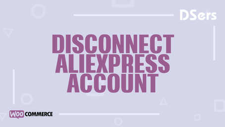 Disconnect AliExpress account