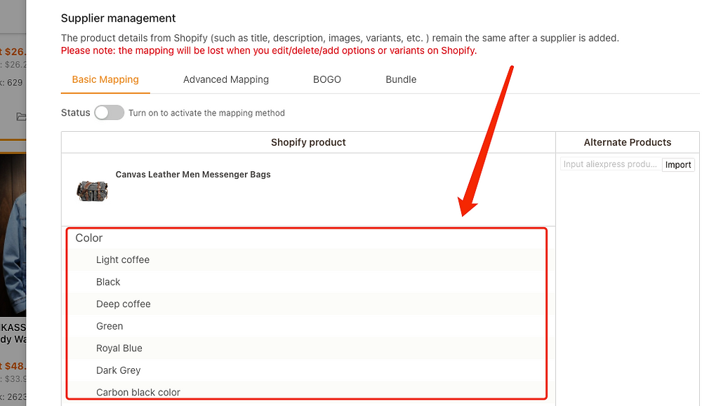 Migrate data from ShopMaster with DSers - Products not mapped - DSers