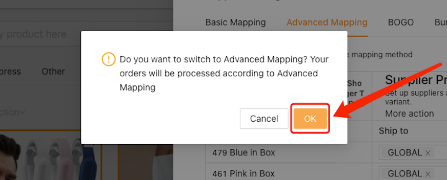 Advanced Mapping with Woo DSers - Activate Advanced mapping - Woo DSers