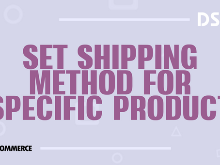Set shipping method for specific product