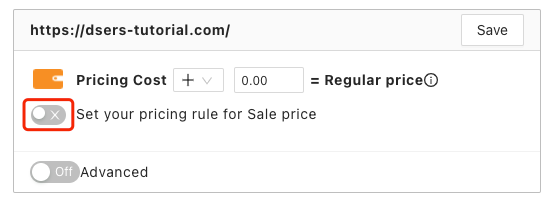 Pricing rules with Woo DSers - Set sale price - Woo DSers