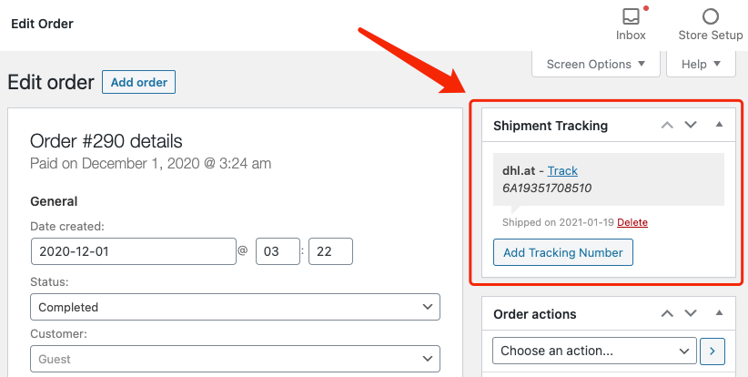 Set tracking for your orders with Woo DSers - Shipment tracking - Woo DSers