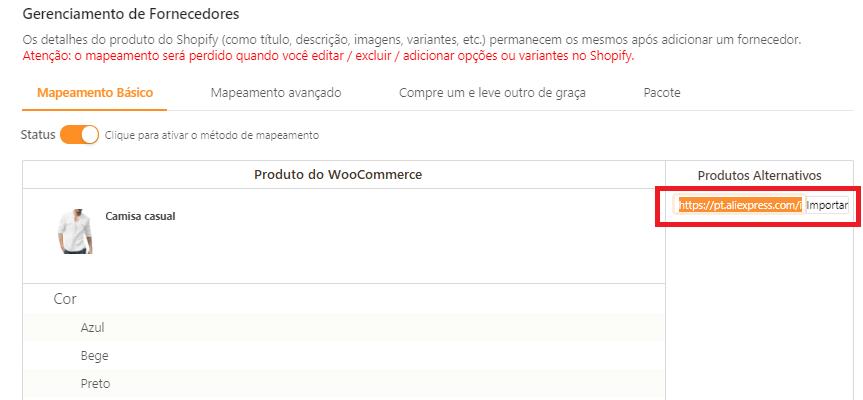 Como mapear meus produtos para o WooCommerce - 8 - DSers