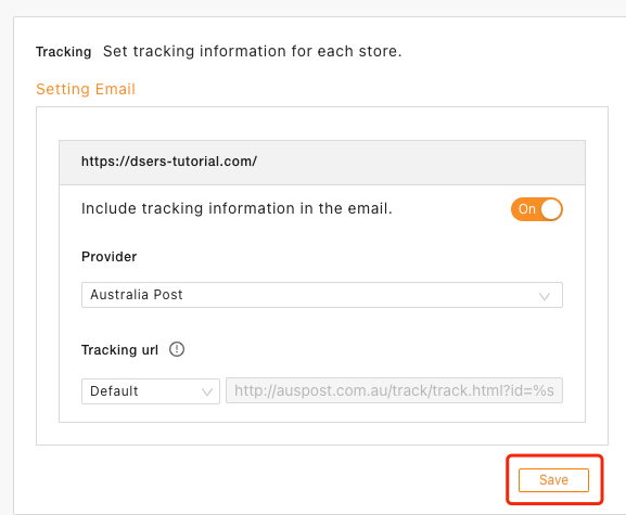 Set tracking for your orders with Woo DSers - Save - Woo DSers