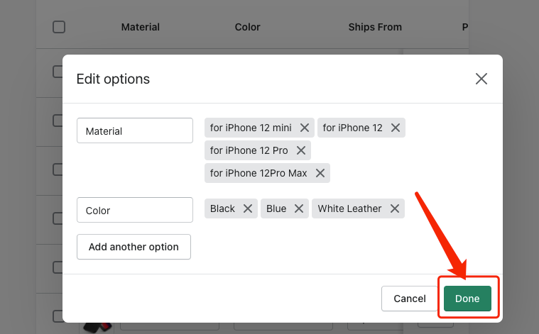 "Remove ""Ship From"" of a product - Edit Options Done - DSers"