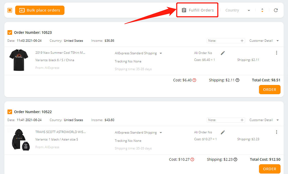 Fulfill orders manually on DSers - Fulfill orders - Wix DSers