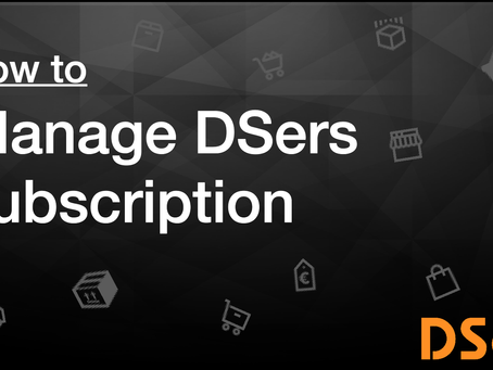 Manage DSers subscription