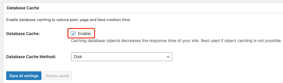 Why I can't push my product from Woo DSers to WooCommerce - Disable Database Cache - Woo DSers