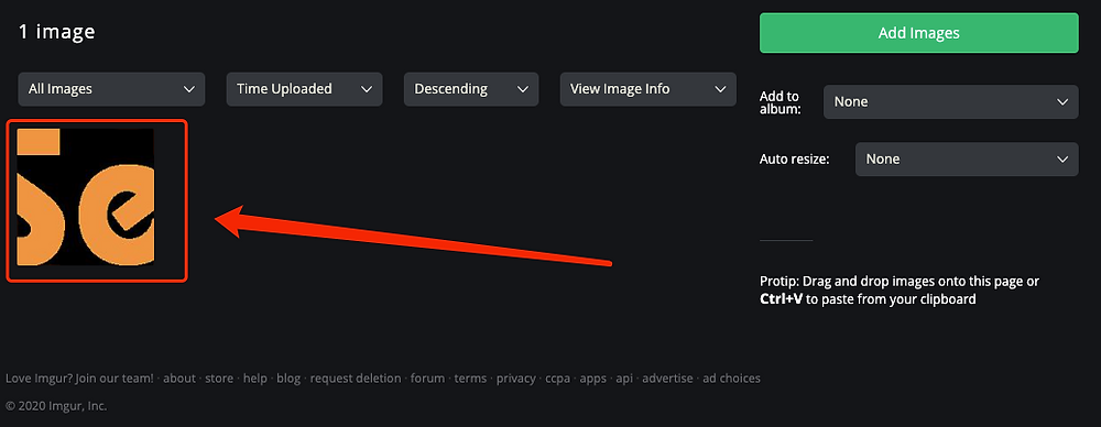 Send images to suppliers - Select Image on Imgur - DSers