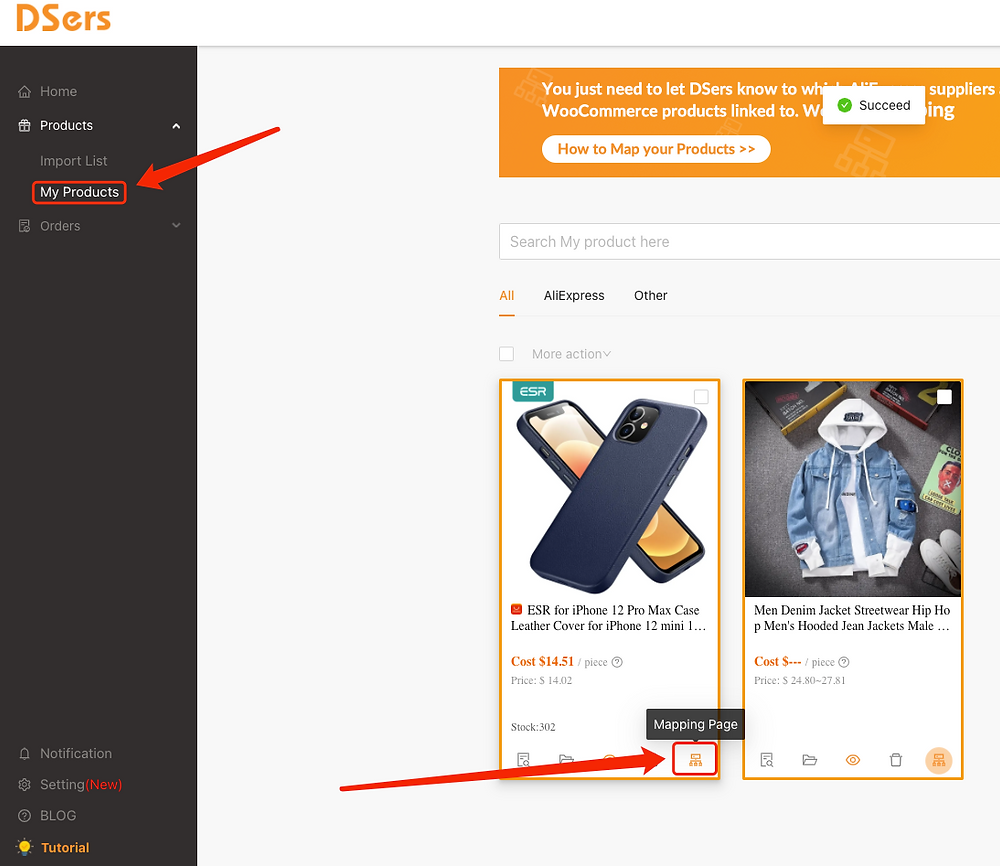 Remove Ships From of a product with Woo DSers - Mapping Page - Woo DSers