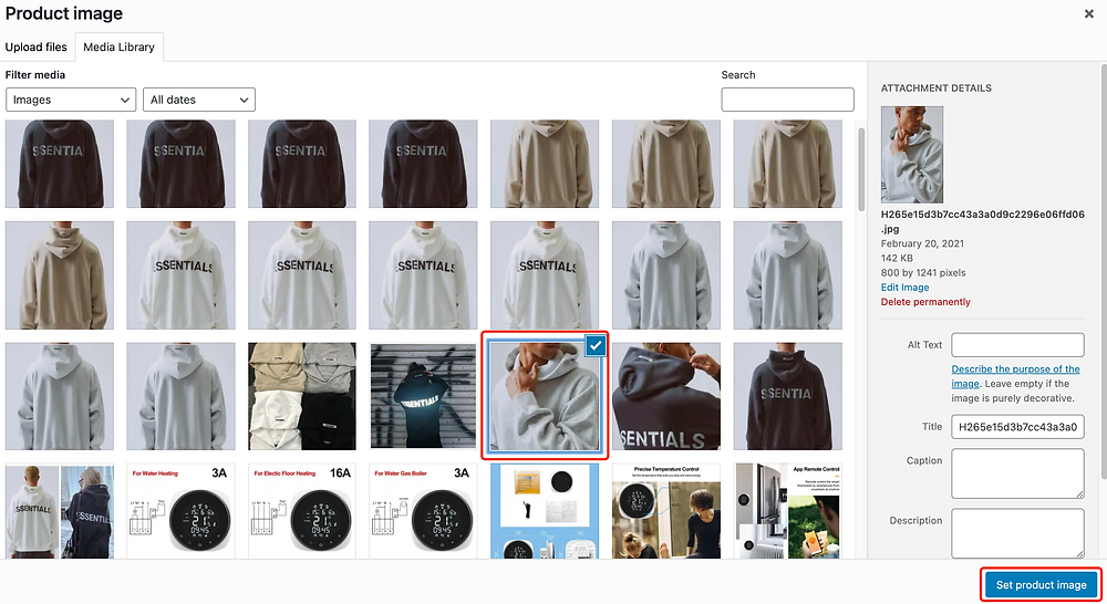 Edit a product on WooCommerce with Woo DSers - Set product image - Woo DSers