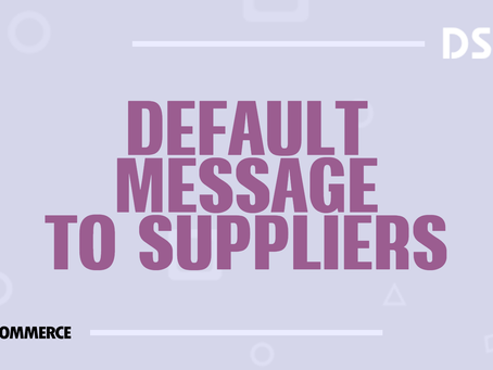 Default message to suppliers