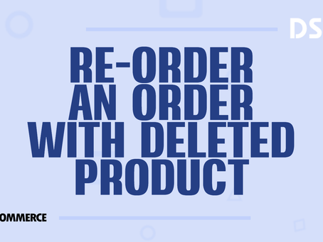 Re-order an order with deleted product