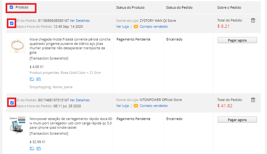 Pagar múltiplos pedidos no AliExpress com Woo DSers - 5 - Woo DSers