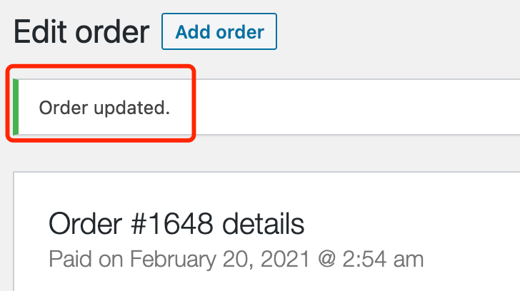 Fulfill orders manually on WooCommerce with Woo DSers - Order updated - Woo DSers