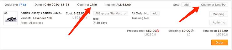 Especificações de pedidos para o Chile com Woo DSers - 1 - Woo DSers