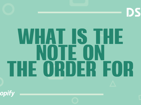 What is the note on the order for