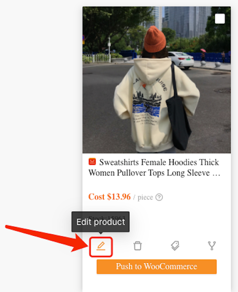 Split a product with Woo DSers - Edit Product - Woo DSers