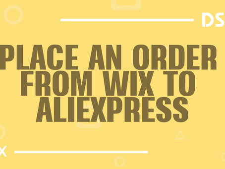 Place an order from Wix to AliExpress
