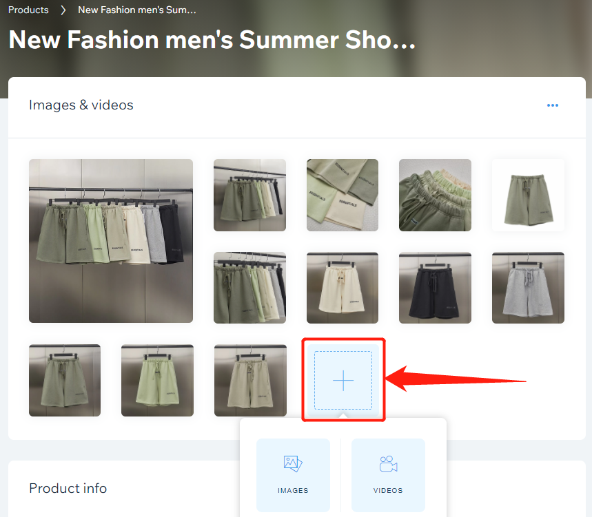 Edit a product in your store with Wix DSers - add image and video - Wix DSers