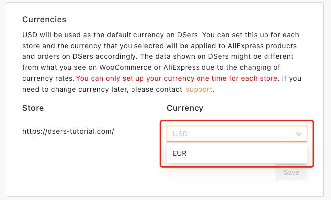 Alterar e configurar moeda com Woo DSers - 2 - Woo DSers