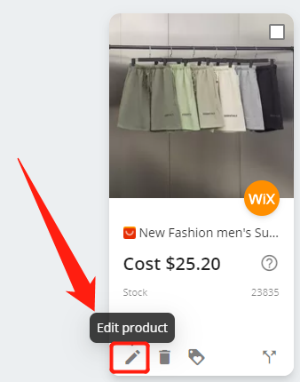 Import List with Wix DSers - edit product - Wix DSers