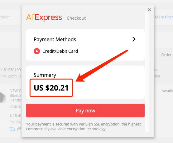 Change currency to pay on AliExpress - Pay in USD - DSers