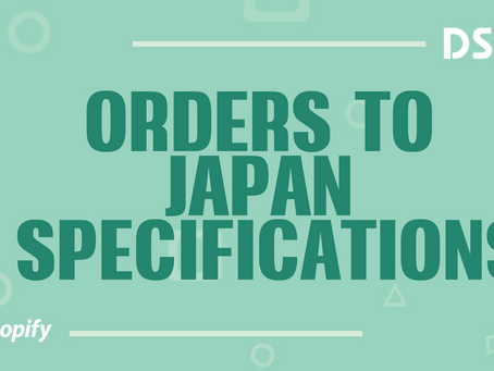 Orders to Japan specifications