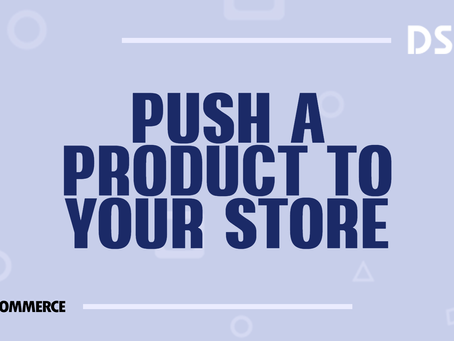 Push a product to your store