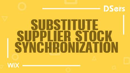 Substitute supplier stock synchronization