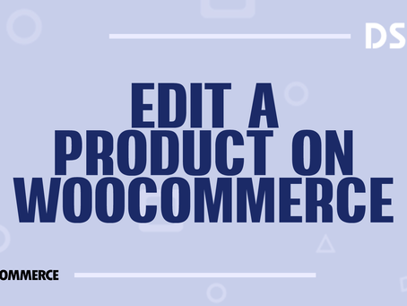 Edit a product on WooCommerce