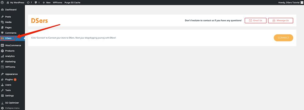 Installer manuellement DSers sur WordPress avec Woo DSers - 8 - Woo DSers