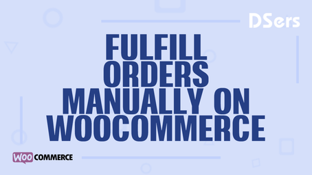 Fulfill orders manually on WooCommerce