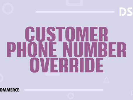 Customer phone number override