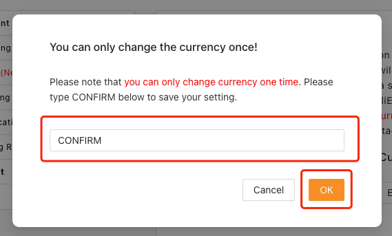 Change and set currency on Woo DSers - Confirm changes - Woo DSers